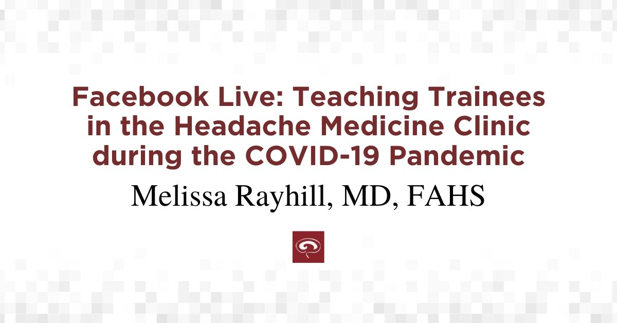 Facebook Live with Melissa Rayhill, MD